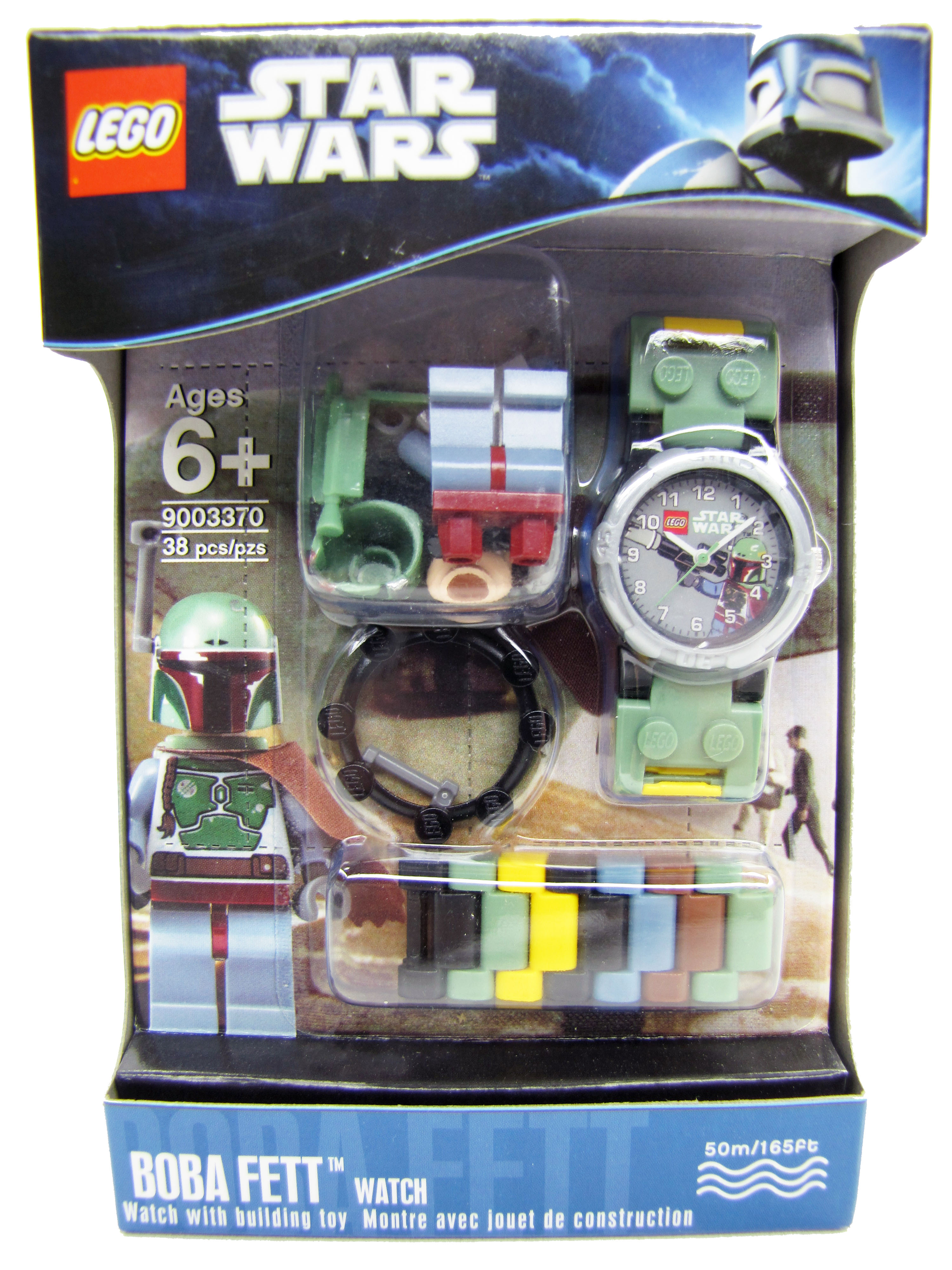 Lego Star Wars Boba Fett Minifigure Watch NEW Lego Time 9003370